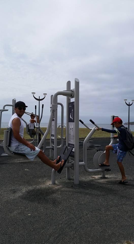 The beach gym