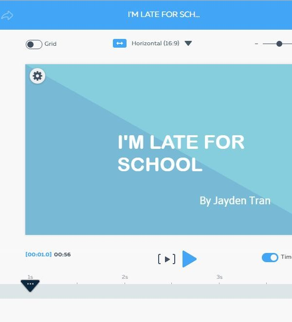 I'm late for school – Video using Powtoon