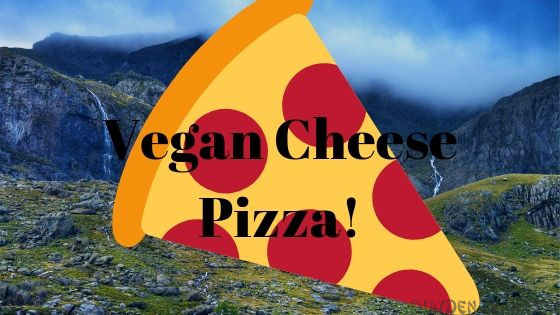 Vegan cheese pizza