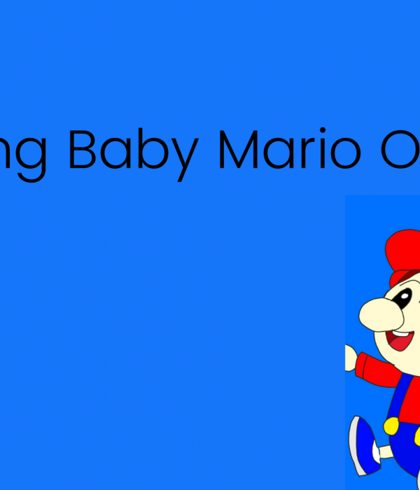 Drawing Baby Mario On Krita